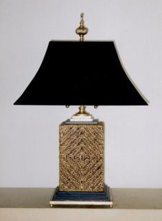 Table lamps - Pair vintage RATTAN WOVEN table lamps - Empel Collections