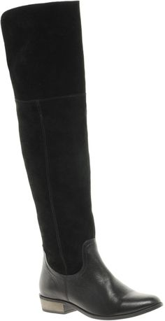 Knock Knock Leather Over The Knee Boots - Lyst