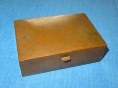 Vintage Handmade Copper Trinket Box Hinged Lid - ESTATE FRESH FIND - EXCELLENT