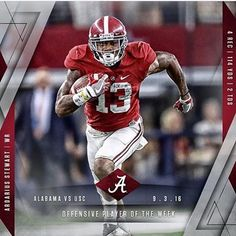 Ardarius Stewart has been named offensive player of the week! #RollTide