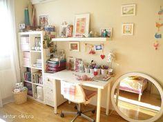 Make a little craft nook in corner of office, garage or shed