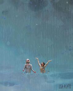 Sommerregn av Lisa Aisato Summer Rain by Lisa Aisato Rain Illustration, Rain Art, Summer Rain, Dancing In The Rain, Rain Dance, Cute Wallpaper Backgrounds, Wallpapers, To Infinity And Beyond, Art For Art Sake