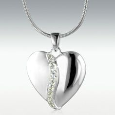 United Heart Sterling Silver Cremation Jewelry - Engravable