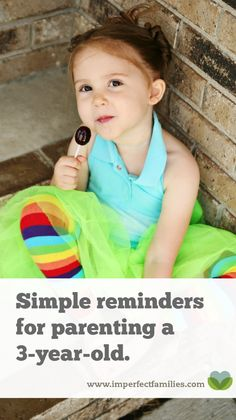 Simple reminders to parents of a 3-year-old