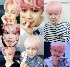 Park Jimin - cabelo rosa