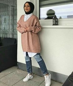 21 Ideas Dress Casual Long Hijab For 2019 Günlük Tesettür Modası Casual Hijab Outfit, Hijab Chic, Hijab Dress, Muslim Fashion, Modest Fashion, Hijab Fashion, Modest Dresses, Modest Outfits, Casual Dresses