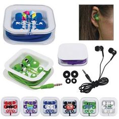 #EarBuds in Square Case #PartyFavors #Event #Giveaways #Promo