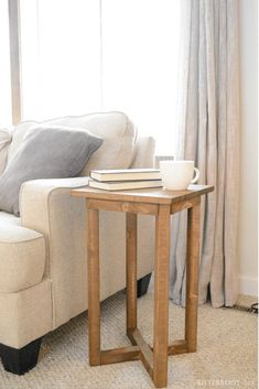 X Base DIY End Table | build this DIY end table with woodworking plans from Bitterroot DIY  #endtable #livingroomideas #woodworking #woodworkingplans #sidetable