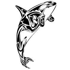 White belly killer whale tattoo Design