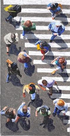 """Pedestrians 2012-16"": Jim Zwadlo, acrylic painting"