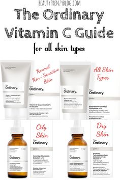 The Ordinary Vitamin C Guide for all Skin Types. The Ordinary Vitamin C Guide. There are so many different forms of Vitamin C from The Ordinary. It can be really confusing to know which to pick. The Ordinary Vitamin C Guide, The Ordinary Guide, Beauty Care, Beauty Hacks, Beauty Tips, Beauty Products, Diy Beauty, Beauty Ideas, Best Skincare Products