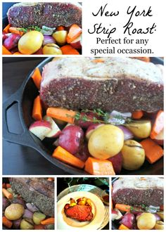 Garlic Rubbed New York Strip Roast with Brandy Aus Jus: Step-by-step instructions on how to roast the perfect cut of meat ideal for any special occasion.