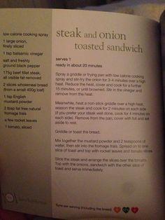 Slimming world steak & onion toasted sandwich