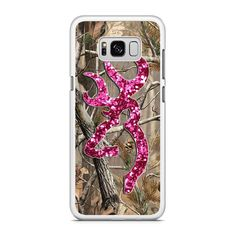 Camo Browning Pink Glitter Samsung Galaxy S8 Plus Case