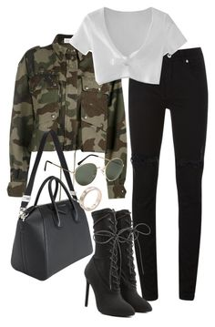 A fashion look from July 2017 by featuring WithChic Faith Connexion McQ by Alexander McQueen Yeezy by Kanye West Givenchy Cartier and HM Edgy Outfits, Teen Fashion Outfits, Swag Outfits, Mode Outfits, Cute Casual Outfits, Fall Outfits, Womens Fashion, Petite Fashion, Looks Party