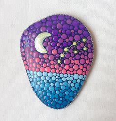 Gartendekoration - Nachthimmel Punkt Art bemalter Stein - ein Designerstück von CreateAndCherish bei DaWanda