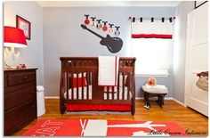 rock and roll nursery, just add rock poster and you have a Rock'in Room!