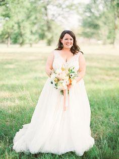 Watters Soledad gown in ivory, Lavender inspired vineyard real wedding | Wedding Sparrow