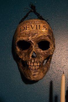 DIY Paper Mache' skull mask