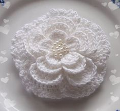 Larger Crochet Flower In 3 inches YH02402 by YHcrochet on Etsy