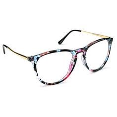 28c47b7710 PenSee Womens Fashion Oversized Clear Lens Round Circle Eye Glasses