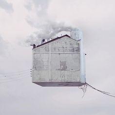 Laurent Chéhère / flying houses