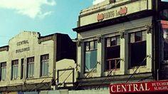 Old facades, Stratford, Taranaki, New Zealand.