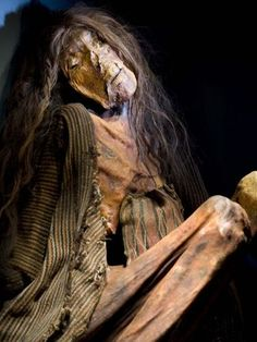 This young tattooed woman with long black hair died in northern Chile over 3410 years ago. I saw her in person a few years back at a Mummies of the World exhibit in L.
