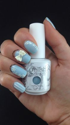 Trendy Cute 3D Bow Nail Art On Gel And Regular Nail Polish #bownails #lslfunblog
