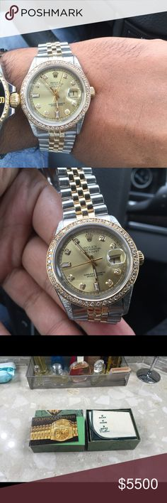 Rolex Date Just with Diamonds Rolex date just with Diamonds 36 MM unisex .Authentic. Rolex Accessories Watches