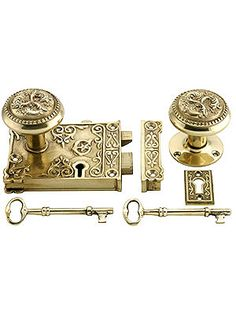 Late Victorian Style Rim Lock Set In Polished or Unlacquered Brass House of Antique Hardware Victorian Furniture, Victorian Decor, Victorian Homes, Victorian Fashion, Antique Furniture, Victorian Bedroom, Distressed Furniture, Wooden Furniture, Asian Furniture