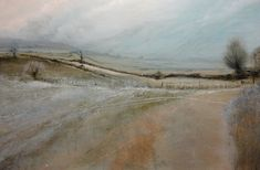 """Frosty morning walk"" by Jane Skingley (Landscapes) - oil on board Landscape Art, Landscape Paintings, Still Life, Olie, Hampshire, Frost, Nature, Board, Pintura"
