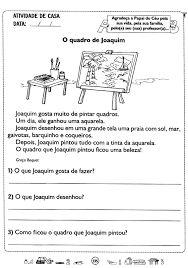 Resultado de imagem para atividades de leitura e interpretação de pequenos textos