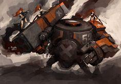 7 mecha designs by Blizzard's Luke Mancini