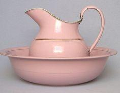berengia:  Pink graniteware - rare