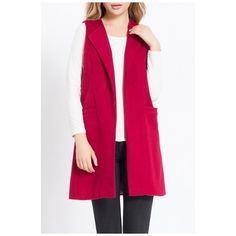 Women's Wool Blend Sleeveless Long Vest Slim Autumn Waistcoat (1.905 RUB) ❤ liked on Polyvore featuring outerwear, vests, long sleeveless waistcoat, sleeveless waistcoat, pink vest, sleeveless vest and slim fit vest