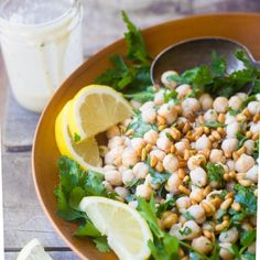 Deconstructed Hummus Salad is a light but very healthy side dish dinner salad lightdinner