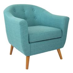 <p>While the design is mid-century, its style is timeless and so on-trend. Available in teal, as pictured here, or in gray and orange.</p>