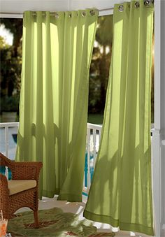Outdoor curtains make patios, porches, decks, and gazebos feel like you're still inside your residence. It offers the luxury and security of. Outdoor Curtains For Patio, Porch Curtains, Outdoor Blinds, Outdoor Rooms, Outdoor Living, Shower Curtains, Outdoor Privacy, Outdoor Fabric, Back Patio