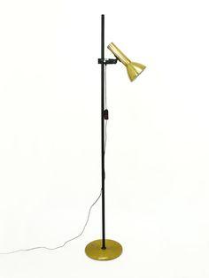 lampara pie Fase foco dorado - Decoración y Objetos Vintage   VOM Gallery