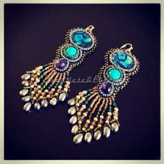 Beautiful Peacock Earrings