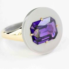 TAFFIN. Purple Sapphire Ring.