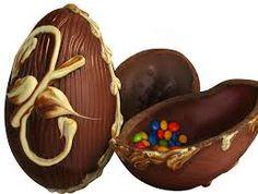 Resultado de imagen para huevos de pascua chocolate Easter Eggs, Serving Bowls, Decorative Bowls, Stuffed Mushrooms, Vegetables, Tableware, Food, Google, Frases