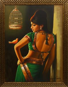 Anand gomay indian women painting, indian art paintings, indian artist, b. Indian Women Painting, Indian Art Paintings, Indian Artist, Rajasthani Painting, Indian Drawing, Buddha Painting, Painting Of Girl, Painted Ladies, Beautiful Girl Indian