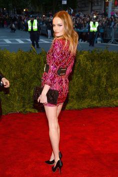 Todas las fotos de celebrities y de alfombra roja de la gala del MET 2013: Kate Bosworth de Balmain
