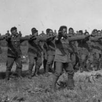 The Pioneer Maori Battalion performing a haka in front of PM at the time, William 'Farmer Bill' Massey. World War One, First World, Maori People, West Papua, Maori Designs, New Scientist, National Symbols, Anzac Day, Maori Art