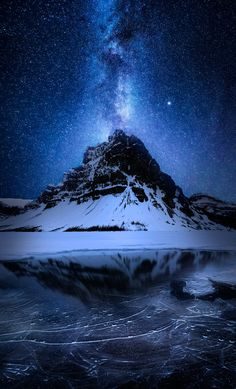 ~~Absolute Zero blue night astrophotography, Banff, Canada by Daniel Greenwood~~ Nature Pictures, Beautiful Pictures, Landscape Photography, Nature Photography, Images Esthétiques, Photos Voyages, Out Of This World, Milky Way, Night Skies
