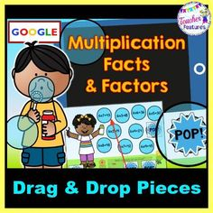 This no prep, interactive Google Slides pack focuses on multiplication facts to 12. Use the 10 slides to teach or review facts. Each slide contains 4 equations that do not belong. Students need to drag & drop the POP! bubbles over the incorrect equations and type the 4 incorrect equations into the text box. #tptdigital