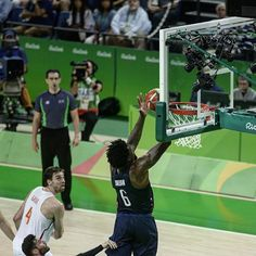 08.19.16 Deandre Jordan and USA Basketball advance to the Gold Medal Game with win over Spain. #Rio2016