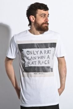 Only a rat can win a rat race - t-shirt from 80spurple